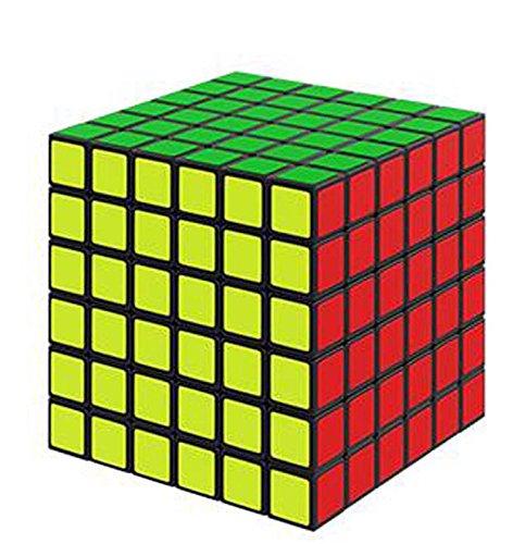MFJS 2x2x2 à 11x11x11 Cube Magique La Vitesse Cube Puzzle Jouets éducatifs Autocollant Fond Noir (6x6x6)