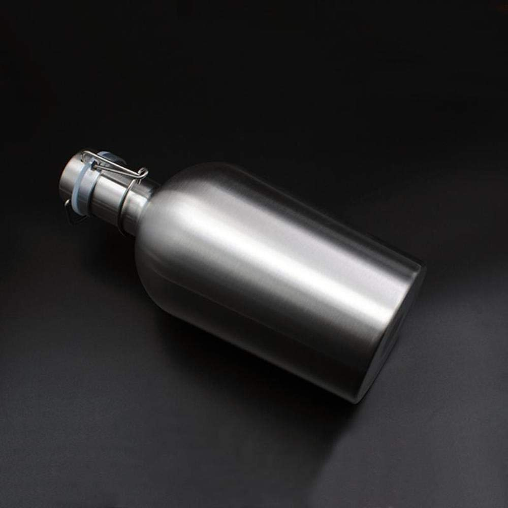 304 Stainless Steel Beer Growler Max New life 50% OFF 64 oz Ho Bottle Top L Swing 1.9