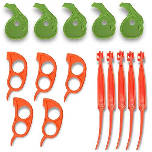 MAICOLA 15PCS orange Pomelo Citrus Schäler Obst Schäler Set Küchenzubehör Skinning Werkzeug
