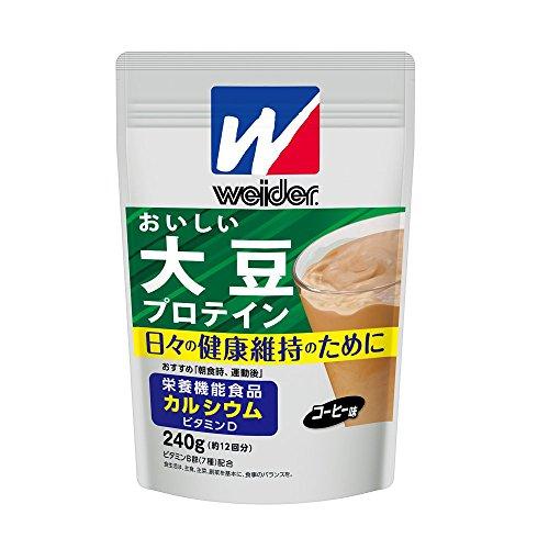 ウイダー おいしい大豆プロテイン コーヒー味 40食分(800g) 大豆タンパク質 100%使用