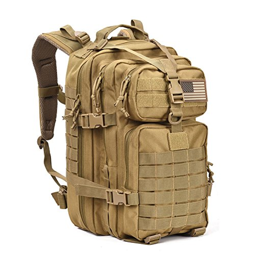 Military Tactical Assault Pack Backpack Army Molle Bug Out Bag Backpacks Small Rucksack for Outdoor Hiking Camping Trekking Hunting Brown