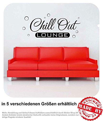 Wandtattoo Chill Out Lounge Wohnzimmer Couch Sofa Wandaufkleber Aufkleber 30 Farben zur Auswahl (80,0 cm x 33,0 cm)