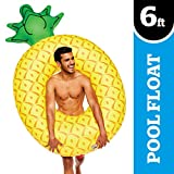 BigMouth Inc Giant Pineapple PooI FIoat, Funny Fruit InfIatable Vinyl Summer Pool or Beach Toy, Patch Kit Included