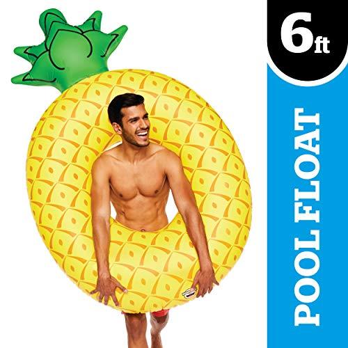 BigMouth Inc.–aufblasbarer Schwimmreifen im Ananas-Design, sehr groß| für Schwimmbäder und Strand