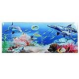 Upmoten Fondo de acuario, pegatina de fondo de pecera de acuario, decoración de fondo subacuático, póster de fondo de acuario, adecuado para una variedad de peceras y acuarios.