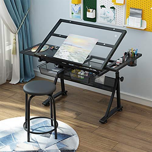 Lgan Mesa De Dibujo for Arte Y Diseño, Plegable Mesa Dibujo Reclinable, Multifunción Mesa De Dibujo