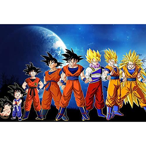 JINGLU Adulto 1000 Piezas De Madera Grande De Rompecabezas Animado De Dibujos Animados Dragon Ball Super Saiyan Recuerdos De La Infancia Da Cumpleaños 1500 Tablets
