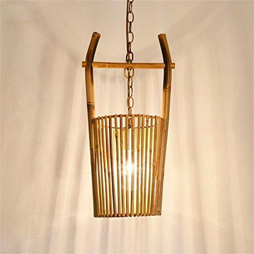 TOYM UK-La lampe de chambre lustre salle de restaurant salon de thé de jardin écologique créatif original à la main en bambou bambou Art Light Inn Café lustre