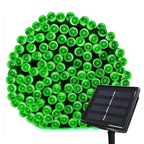Tuokay Solar Lichterkette Außen, 22m 200 LED 8 Modi, Wasserdicht LED Außenlichterkette, Dekorative Beleuchtung für Garten, Balkon, Pavillon, Terrasse, Rasen, Hof, Zaun, Hochzeit Deko (Grün)