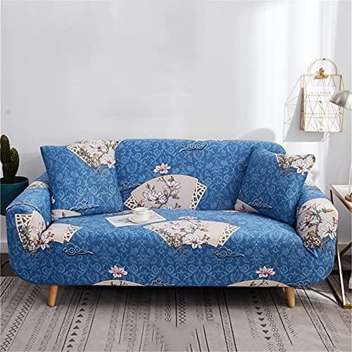 ZYRLWJ Sofa Protector, 3 Sitzer Stretch Sofabezug Antirutsch Elastic Sofa Protector Mit 2 Kissenbezügen Für Couch Möbelschutz (F-25,1 Sitzer)