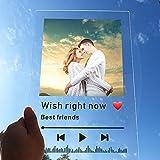 Acryl Musik Foto Album DIY Album Cover Photo Frame Speicher Retro Foto zum Jubiläum Mutter Geburtstag Valentinstag Hochzeit Reise Abschlussgeschenke