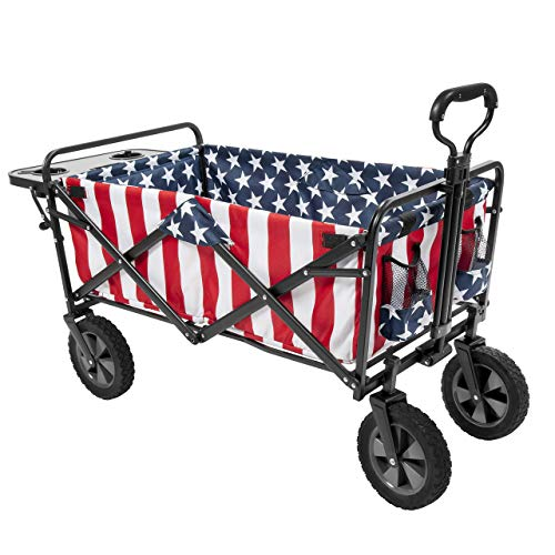 Mac Sports Collapsible Folding Outdoor Utility Wagon (Wagon with Side Table)...