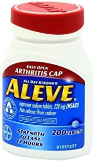 Aleve Tablets with Easy Open Arthritis Cap, 200 Count Tablets