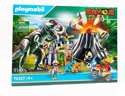 Playmobil 70327 Dinos XXL T-Rex Dinosaurier mit Vulkanausbruch und...