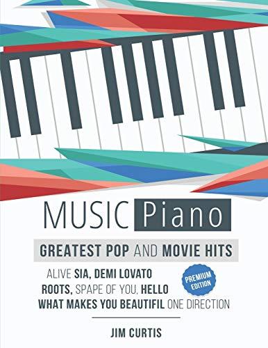 Piano Music Greatest Pop & Movie Hits: Piano Sheet Music - Big Note Piano