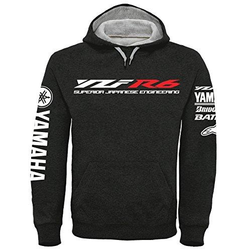 Tecnología de Yamaha YZF R6 con capucha de impresión superior, S a XXXL (M)