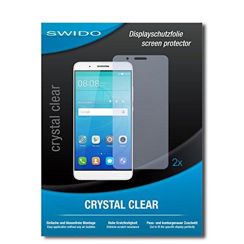 SWIDO Schutzfolie für Huawei ShotX [2 Stück] Kristall-Klar, Hoher Festigkeitgrad, Schutz vor Öl, Staub & Kratzer/Glasfolie, Bildschirmschutz, Bildschirmschutzfolie, Panzerglas-Folie