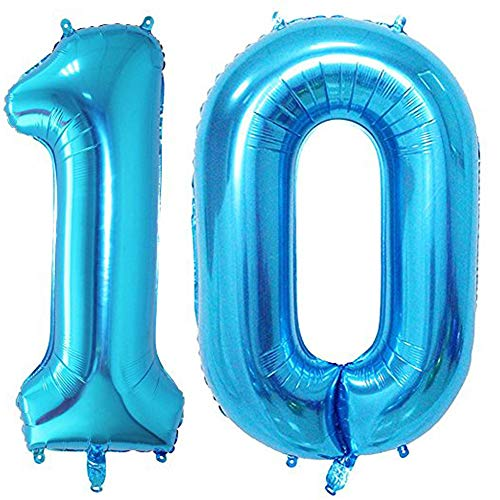 Blue Number 8 Jumbo Foil Balloon 40 Inches!