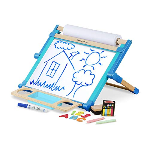 Melissa & Doug- Deluxe Double-Sided Tabletop Easel Caballete