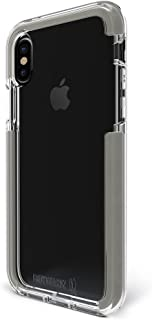 BodyGuardz - Ace Pro Case (2017) for iPhone X/Xs, Extreme Impact and Scratch Protection for iPhone X/iPhone Xs (Clear/Gray)