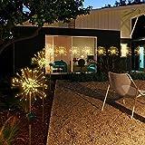 Luces de jardín solar al aire libre, 90/120/150 DIRIGIÓ Luz de paisaje de estaca decorativa con energía solar BRICOLAJE Flores de fuegos artificiales Estrellas para el camino de la pasarela