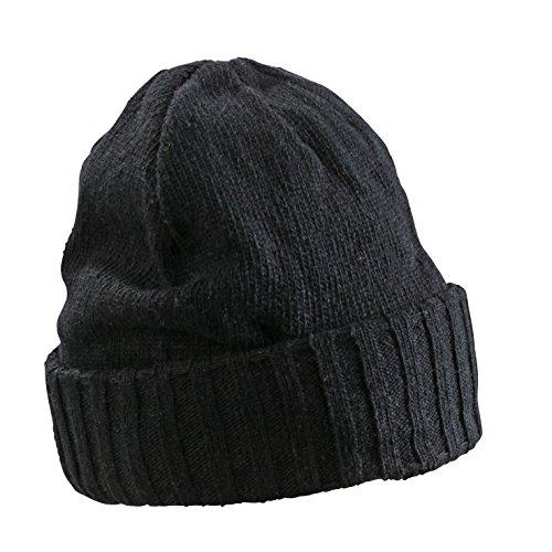 Myrtle Beach Bonnet chiné Basic a Taille Unique Noir - Noir