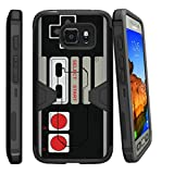 MINITURTLE Compatible with Samsung Galaxy S7 Active Case Shell [MAX Defense] Premium Defender Case Hard Shell Silicone Interior Slim Shell and Holster Game Controller Retro