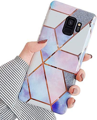 Herbests Coque Compatible avec Samsung Galaxy S9 Ultra Slim Glitter Brillante Etui Silicone Souple...