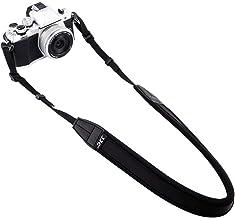 تسمه شانه گردن دوربین بدون آینه JJC برای سونی A6500 A6300 A6000 A9 A7 III Fujifilm X-PRO2 X-T20 X-T2 X-A10 X-A5 X-E3 X-E2S Olympus E-M10 E-M5 E-PL8 PEN -F Canon M100 M10 و غیره -سیاه
