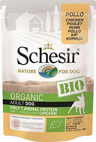 Schesir Bio - Poulet - Chien - Sachets Fraîcheurs 16 x 85 g