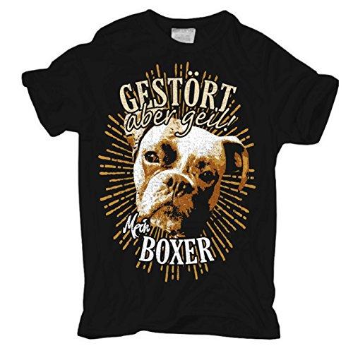 Männer und Herren T-Shirt Boxer - gestört Aber geil