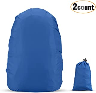 AGPTEK 2-Pack Nylon Waterproof Backpack Rain Cover with 1 Storage Bag for Hiking/Camping/Traveling/Outdoor Activities,Size(XS:10-17L S:18-25L M:26-40L L:41-55L)