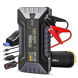 TACKLIFE 1200A Avviatore di Emergenza, Jump Starter per Motori a Gas Fino a 8L e 6L Diesel, Booster Batteria per Auto 12V, powerbank Portatile con Ricarica Rapida 3.0 e Porta Type-C