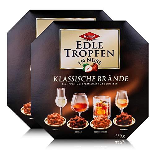 Trumpf Edle Tropfen in Nuss Klassische Brände 250g - Mit Alkohol (2er Pack)