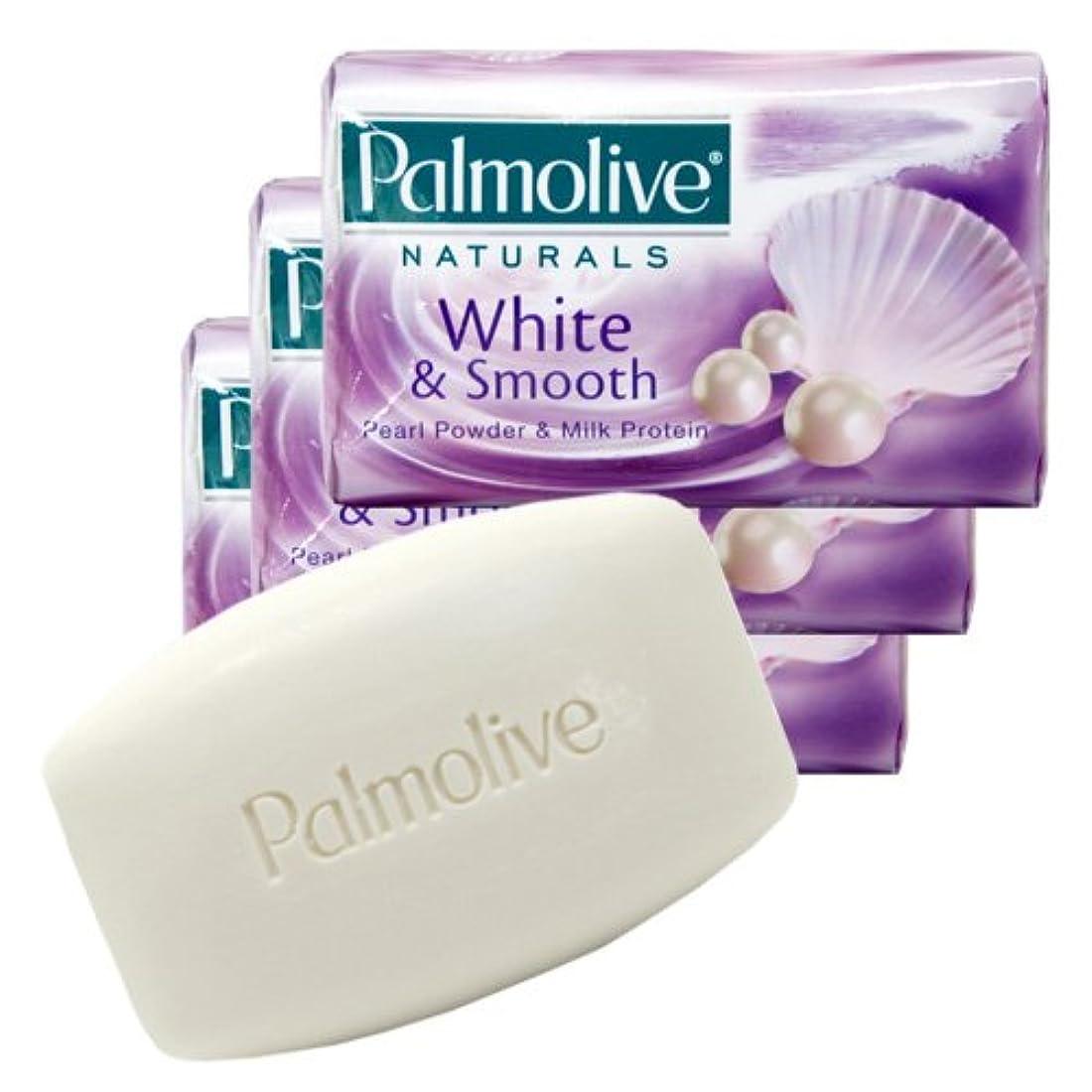 雲スタック活力【Palmolive】パルモリーブ ナチュラルズ石鹸3個パック ホワイト&スムース(パールパウダー&ミルクプロテイン)80g×3