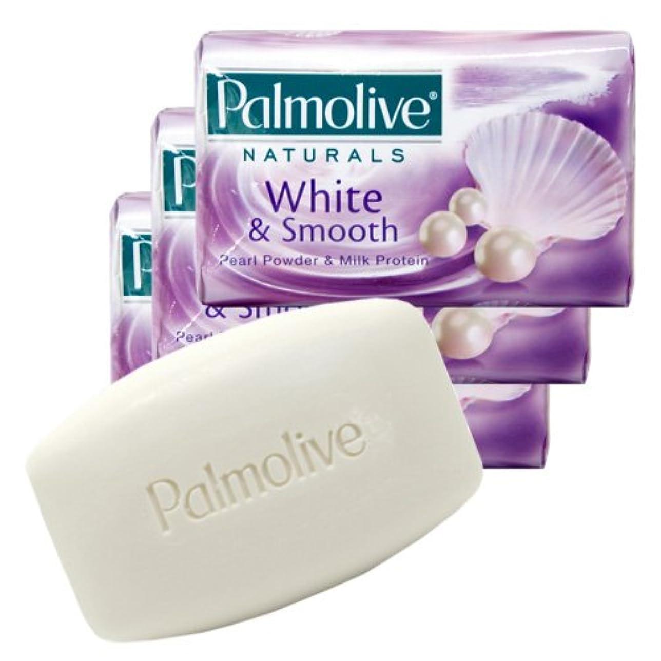 ポータル時期尚早早い【Palmolive】パルモリーブ ナチュラルズ石鹸3個パック ホワイト&スムース(パールパウダー&ミルクプロテイン)80g×3