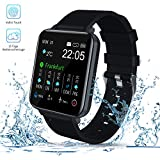 Smartwatch, Zagzog 1,54''Vollfarb-Touchscreen 15 Tage Wettervorhersage GPS-Tracking IP68 wasserdicht...