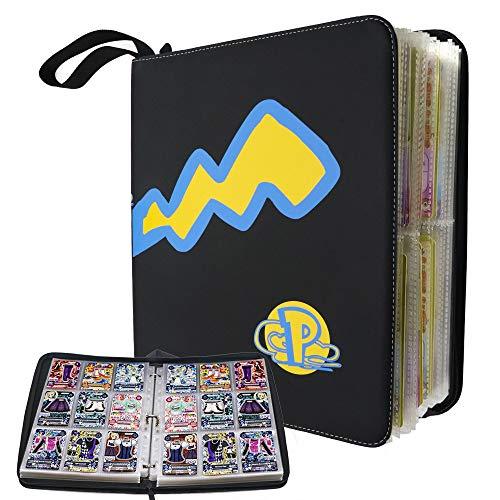 Album Carte Collezionabili, Cartella Carte Pokemon 40 Pagine Raccoglitore Carte Pokémon, Contiene fino a 720 Carte Album Collezionisti di Carte Collezionabili (13 x 11 pollici)