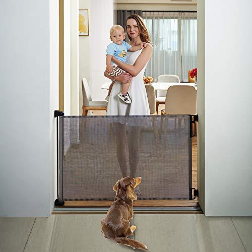 EasyBaby Products Indoor Outdoor Retractable Baby Gate, 33
