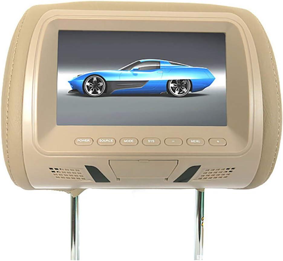 Glamsville Universal 7 Inch Car Headrest Display Monitor Rear Seat Entertainment Multimedia Player Beige