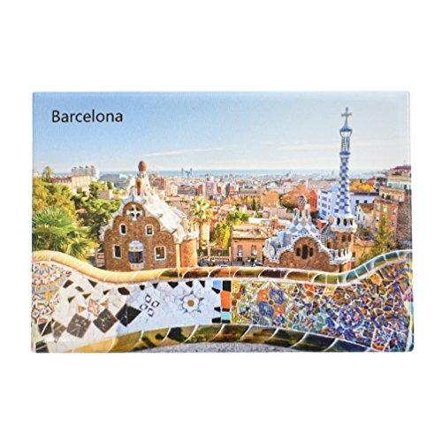 Kesheng Imán de nevera Barcelona para decoración del hogar cocina