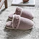 Zapatillas Casa Hombre Mujer Zapatillas De Casa De Invierno De Felpa Corta para Mujer, Antideslizantes Cálidos para Interiores, Zapatos De Piso para Mujer, Zapatillas para Mujer, Calzado De Dos A