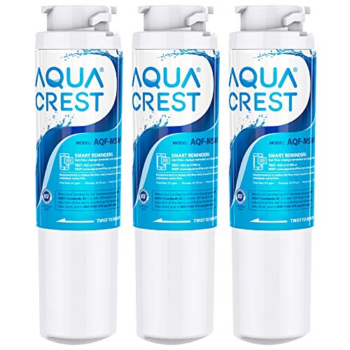 AQUACREST NSF 42 Replacement MSWF Refrigerator Water Filter, Compatible with GE MSWF SmartWater 101821B 101820A (Pack of 3)