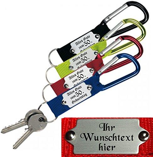 EIN hochwertiger Schlüsselanhänger/Karabinerhaken mit Gravur nach Wunsch.