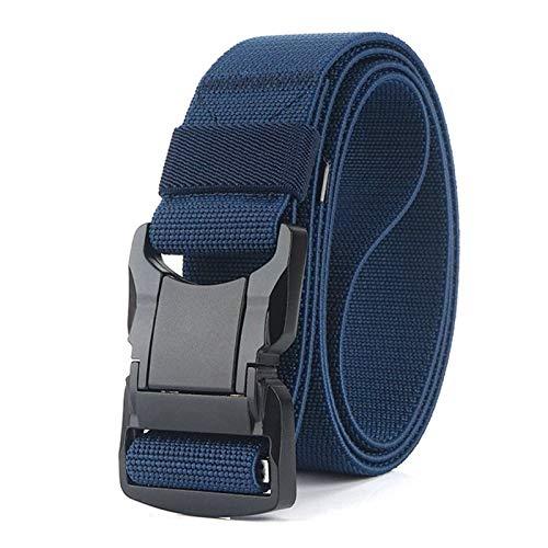 XYW Accesorios de Vestir Cinturón táctico - cinturón elástico Hombres aleación de Aluminio Negro enchufable Hebilla táctiles Cinturones Transpirables cómodo Nylon Masculino Jeans cinturón cóm