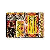 JOOCAR Alfombra de baño con diseño de tradición africana,...