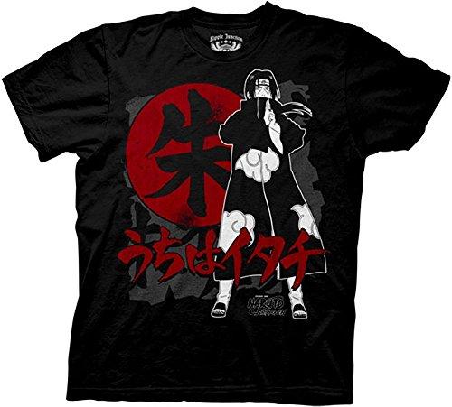 Ripple Junction's Naruto Shippuden Itachi Symbols T-shirt Black Medium