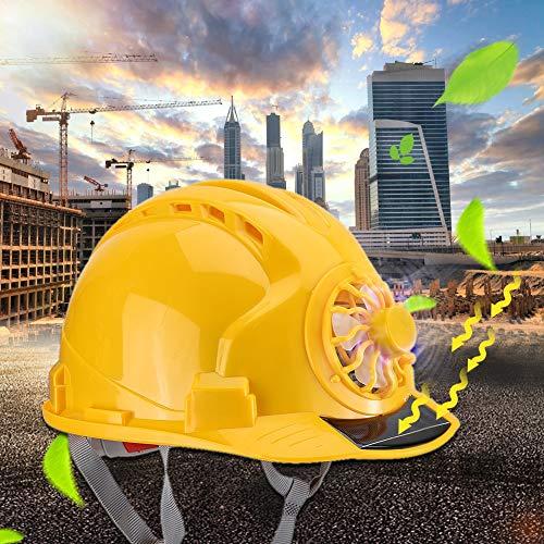 Tapa de construcción, sombrero de soldadura, herramienta para proteger la cabeza, sombrero de ventilador de seguridad, durabilidad con fuerte resistencia al impacto para soldar en talleres
