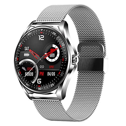 BNMY Smartwatch Mujer Responder Llamadas 1,28''Bluetooth Reloj Inteligente Mujer Redondo, Monitor De Sueño De Pasos Calorías Rastreador De Salud para Android iOS,D