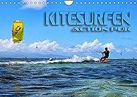 Kitesurfen - Action pur (Wandkalender 2022 DIN A4 quer): Spektakulaere Actionszenen, aufgenommen an traumhaften Surfspots (Monatskalender, 14 Seiten )